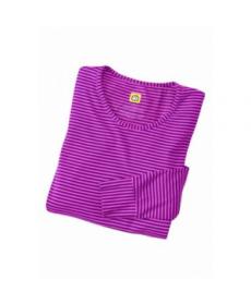 WonderWink long sleeve striped scrub tee - Electric Violet