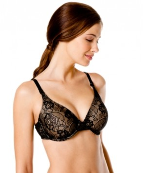 Motherhood Maternity Underwire Padded Full-Coverage Lace Nursing Bra