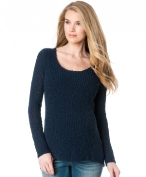 A Pea In The Pod High-Low Open-Knit Maternity Sweater