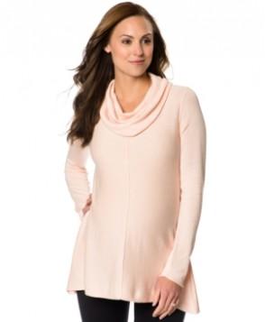 Motherhood Maternity Cowl-Neck Peplum Sweater