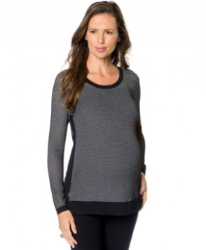 A Pea In The Pod Maternity Textured High-Low Sweater