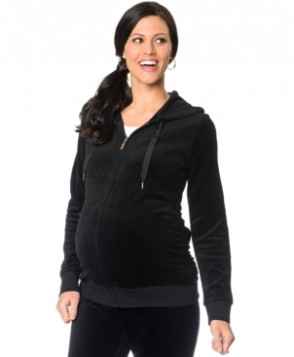 Motherhood Maternity Zip-Front Velour Hoodie