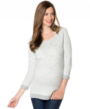 A Pea In The Pod Maternity Raglan-Sleeve Animal-Print Sweater