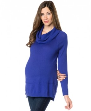 A Pea In The Pod Maternity Cowl-Neck High-Low Wool Sweater