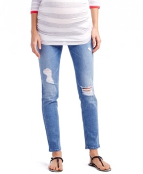 Jessica Simpson Maternity Distressed Skinny Jeans, Light Wash