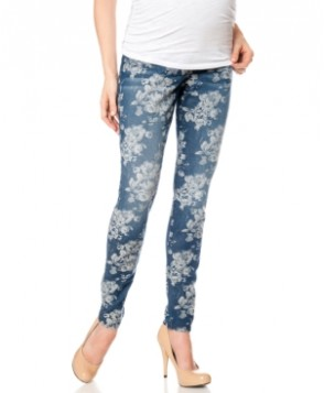 A Pea In The Pod Maternity Skinny Jeans, Floral-Print Wash