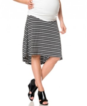 A Pea In The Pod Striped A-Line Maternity Skirt
