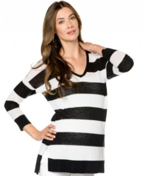 A Pea In The Pod Long-Sleeve Striped Maternity Sweater