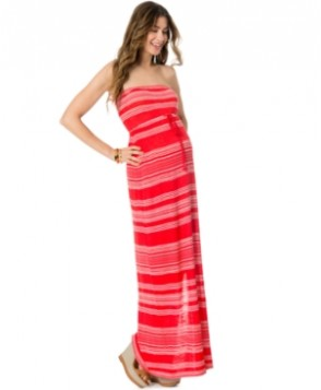Motherhood Maternity Striped Maxi Dress