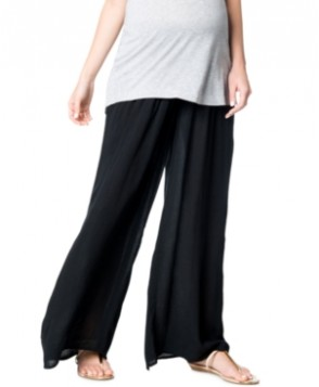 A Pea In The Pod Maternity Smocked Wide-Leg Pants