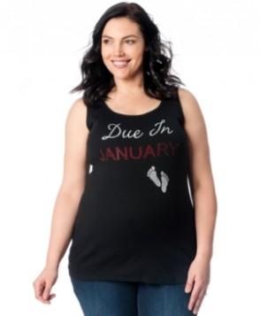 Motherhood Maternity Plus Size Studded Graphic Tank Top