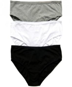 Motherhood Maternity Plus-Size Hi-Cut Cotton Briefs, 3-Pack