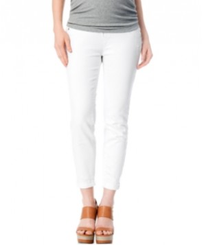 A Pea In The Pod Jeans Maternity Secret Fit Belly Skinny Jeans, White Wash