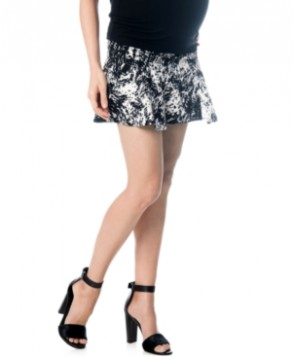 A Pea In The Pod Maternity Secret Fit Belly Printed Fit-and-Flare Skirt