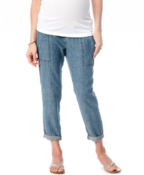 A Pea In The Pod Maternity Chambray Crop Pants