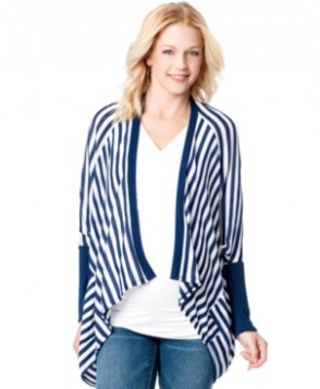 Jessica Simpson Maternity Striped Draped Cardigan