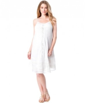 A Pea In The Pod Maternity Crochet A-Line Dress