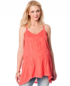 Wendy Bellissimo Maternity Racerback Lace-Trim Tunic