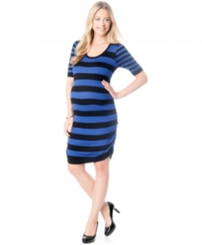 Motherhood Maternity Ruched Sweater Dress