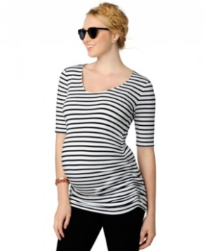 A Pea in the Pod Maternity Elbow-Sleeve Striped Top