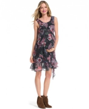 Jessica Simpson Maternity Sleeveless Floral-Print Dress