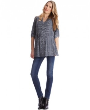 Seraphine Maternity Printed Button-Front Tunic