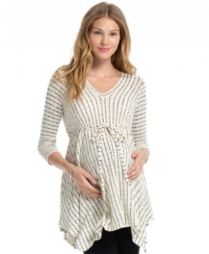 Jessica Simpson Maternity Striped Babydoll Top
