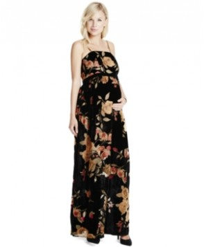 Jessica Simpson Maternity Floral-Print Maxi Dress