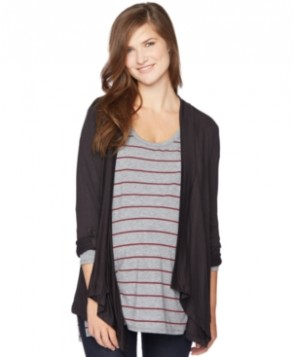 Motherhood Maternity Open-Front Draped Cardigan