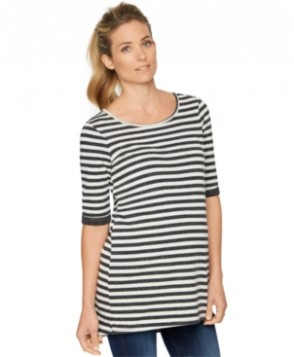 A Pea in the Pod Maternity Striped Elbow-Sleeve Top