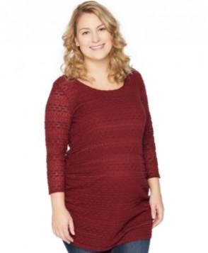 Motherhood Maternity Plus Size Lace Tunic