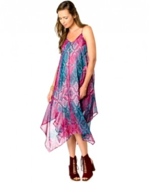 Wendy Bellissimo Maternity Printed Handkerchief-Hem Dress