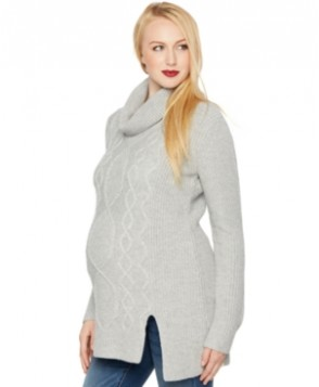 A Pea in the Pod Maternity Cowl-Neck Cable-Knit Sweater
