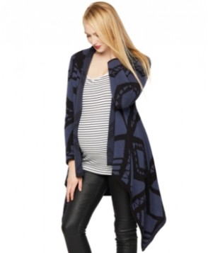 Blank Maternity Printed Open-Front Cardigan