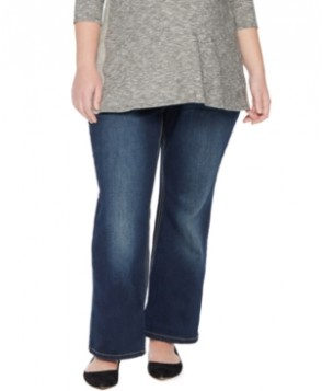 Jessica Simpson Plus Size Boot-Cut Maternity Jeans, Dark Wash