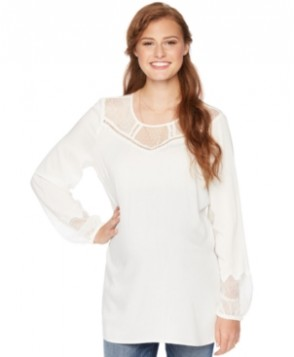 Wendy BellissimoMaternity Lace-Trim Blouse