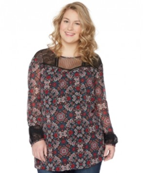 Wendy Bellissimo Maternity Plus Size Printed Blouse