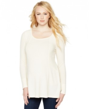 A Pea in the Pod Maternity Lace-Panel Top