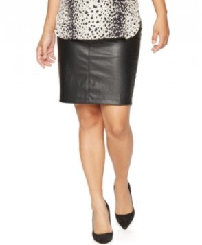 A Pea in the Pod Maternity Faux-Leather Pencil Skirt