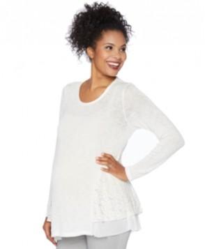 Motherhood Maternity Lace-Trim Sweater