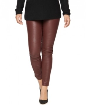 Luxe Essentials Maternity Coated Skinny Jeans, Burgundy Wash