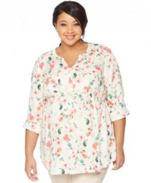 Motherhood Maternity Plus Size Floral-Print Tunic