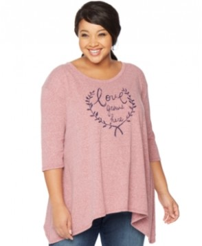 Wendy Bellissimo Maternity Plus Size Graphic Top