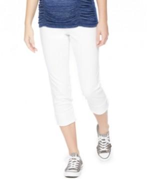 Motherhood Maternity Cuffed Jeans, White Wash