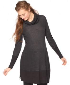 Motherhood Maternity Cowl-Neck Tunic
