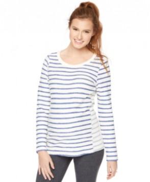 Motherhood Maternity French Terry Striped Sweatshirt