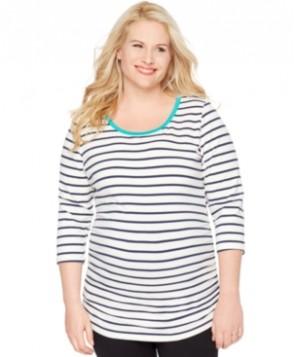 Motherhood Maternity Plus Size Striped Top