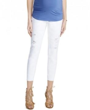Motherhood Maternity Cropped Jeans, White Wash