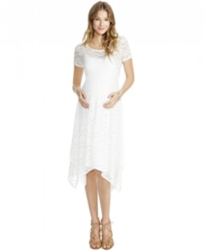 Jessica Simpson Lace Handkerchief-Hem Dress