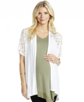 Motherhood Maternity Lace-Panel Cardigan